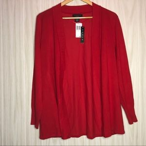 NWT Grace Red Sweater Cardigan